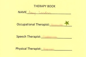 personalized cover of brain injury therapy notebook